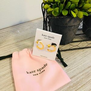 New Kate Spade Scallops Pave Hoops in Gold Tone!